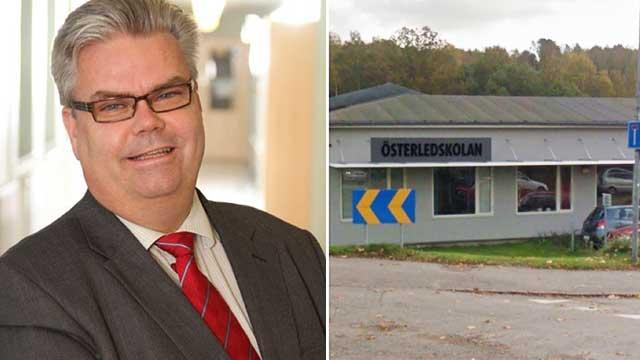 """Rektor Stefan Blessenius forstår ikke foreldrene og mener at det er """"rasismen"""" hos de svenske familiene som er årsaken til at de nyankomne migrantelevene mishandler, truer og selger narkotika. (Foto: Friatider.se)."""