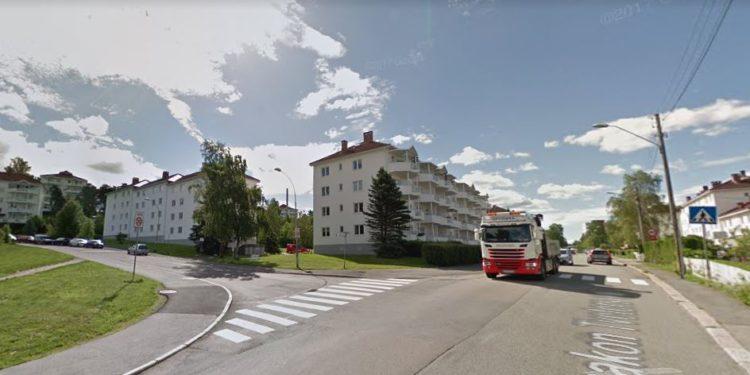 Haakon Tveters vei på Oppsal. (Foto: Google Streetview).