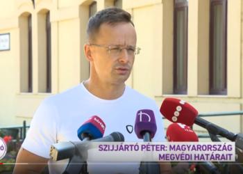 Péter Szíjjártó. (Skjermbilde/Youtube)