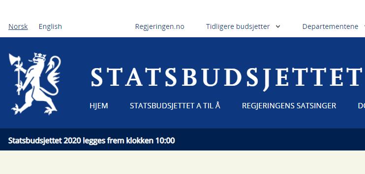 (Skjermbilde Statsbudsjettet.no).